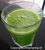 jus vert avec du gingembre