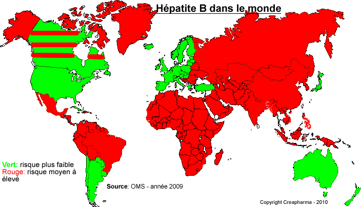 zones à risque hépatite B